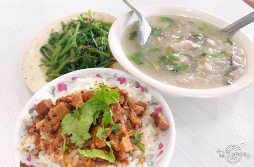 鹹粥 魚燥飯 燙空心菜