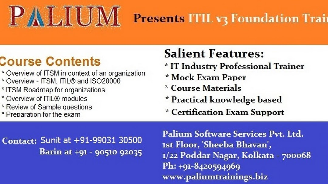 Itil Foundation Itil Intermediate Training Certification