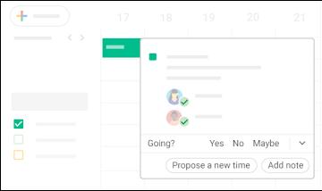 Respond to a calendar event