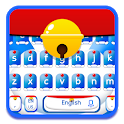 Blue cat keyboard theme icon