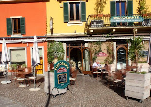 Photo: The piazetta restaurant in the piazza!