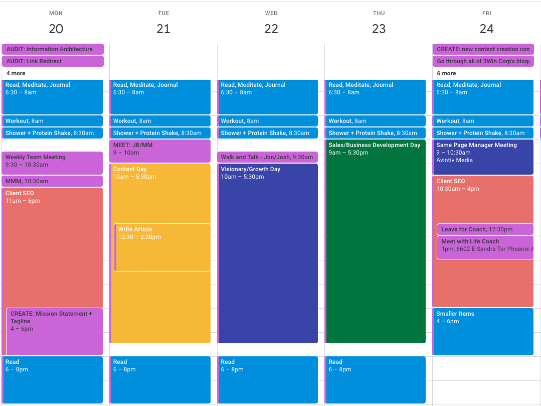 Google Calendar, Productive, Work From Home