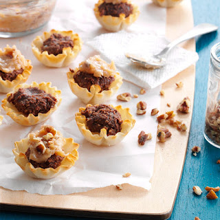 No-Bake Chocolate-Pecan Tartlets.