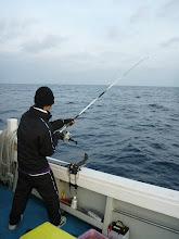 """Photo: そして、タカミさんの息子の""""ケイジくん""""も船釣りは、初めて!"""