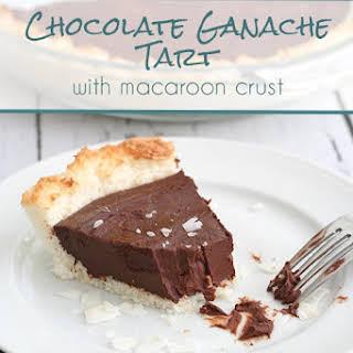 Chocolate Ganache Tart with Macaroon Crust.