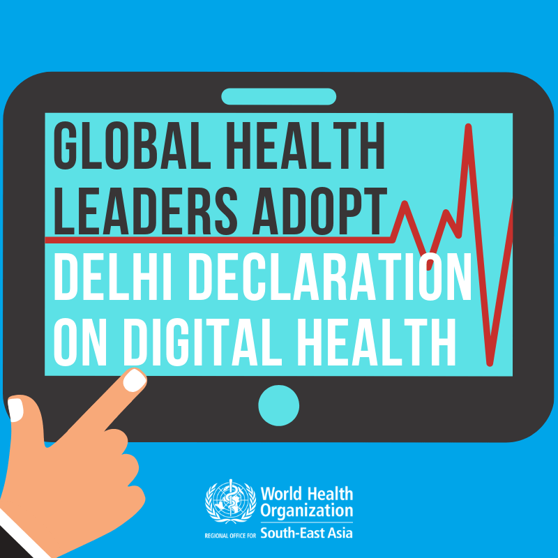 Image result for 'Delhi Declaration' on digital health