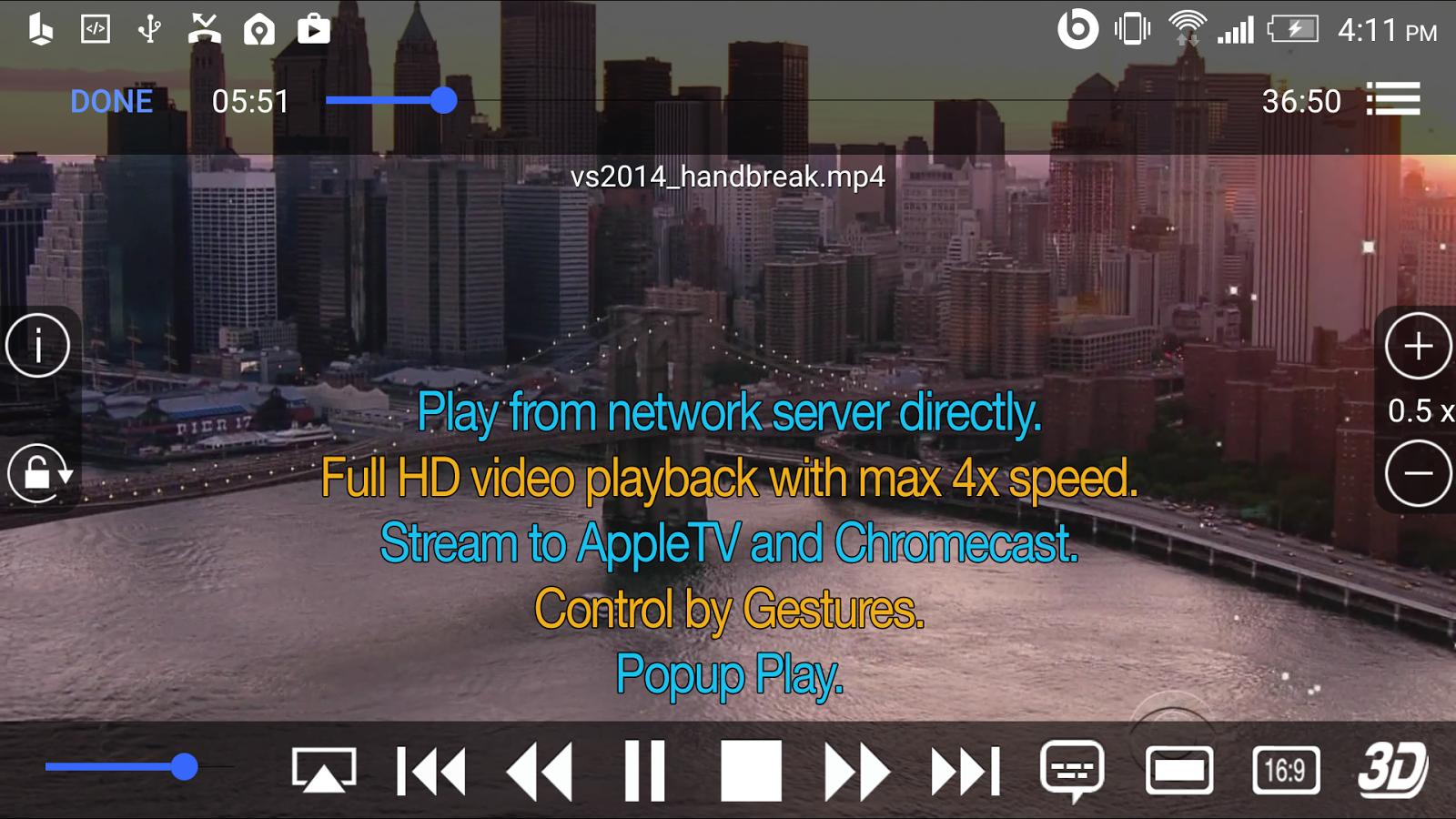BUZZ Player - screenshot