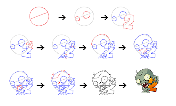 How to Draw Zombies Vs Plant - screenshot thumbnail 03