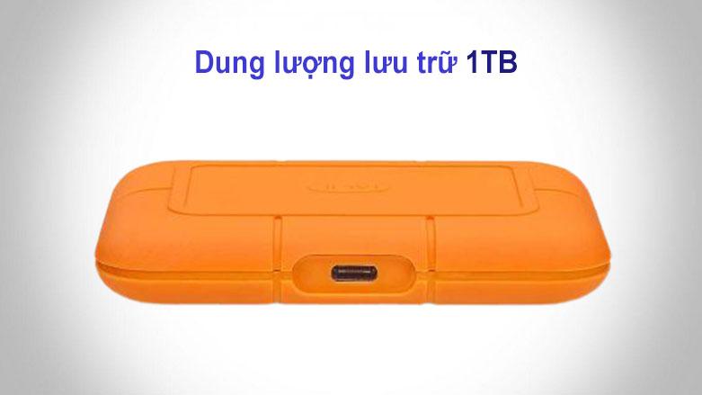 Ổ cứng gắn ngoài SSD LaCie Rugged Thunderbolt 3 1TB USB-C (STHR1000800) | Dung lượng lưu trữ 1TB