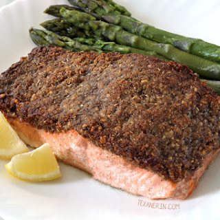 Easy Paleo Pecan-crusted Salmon (whole30, grain-free, gluten-free, dairy-free).
