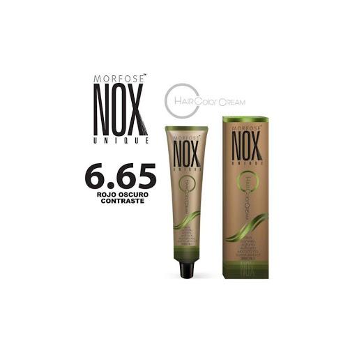 Tinte Morfose Tubo Nox Crema Castano Rojo Rubi 6.65 60Ml tinte de cabello morfose