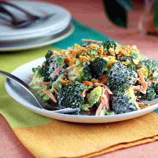 Creamy Broccoli Salad with Garlic Crunch Topping