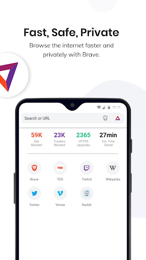 Brave Privacy Browser: Fast, free and safe browser 1.2.0 screenshots 1