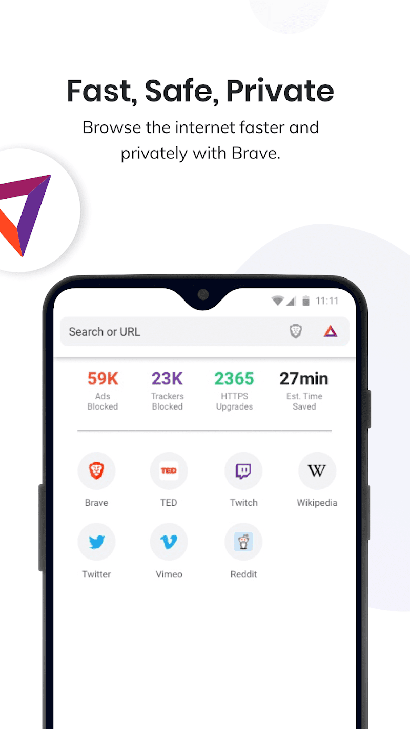 Brave Privacy Browser: Fast, free and safe browser Screenshot 0