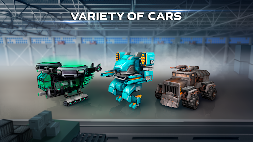 Blocky Cars - Shooting games, robo wars android2mod screenshots 5