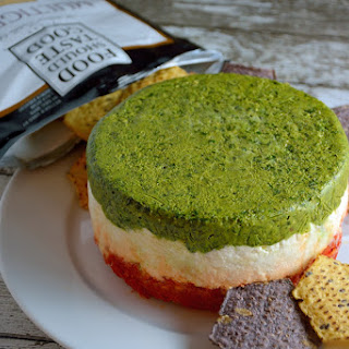 Layered Two Pesto and Ricotta Dip