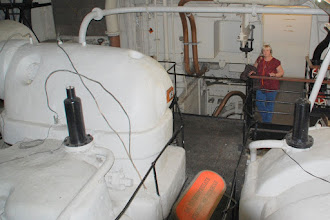 Photo: Queen Mary engine room ... and Pat