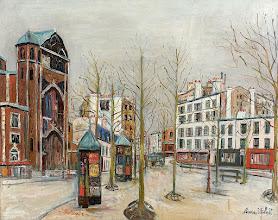 "Photo: Maurice Utrillo, ""Place des Abbesses sotto la neve"" (1917)"