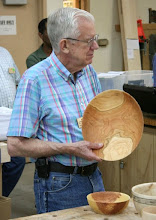 Photo: Don Couchman - cherry bowl, from a blank cored by Clif Poodry in his McNaughton demo.  [08.07]