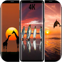 Sunset With Animal Planet Wallpaper 4K icon