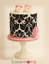 Photo: Damask baby shower cake by @bakermama (3/30/2012) View cake details here: http://cakesdecor.com/cakes/10606