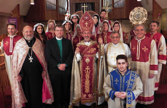 Photo: After Badarak with Clergy and Choir