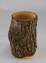 "Photo: Ed Karch 4"" x 7"" natural-edge vessel [dogwood]"