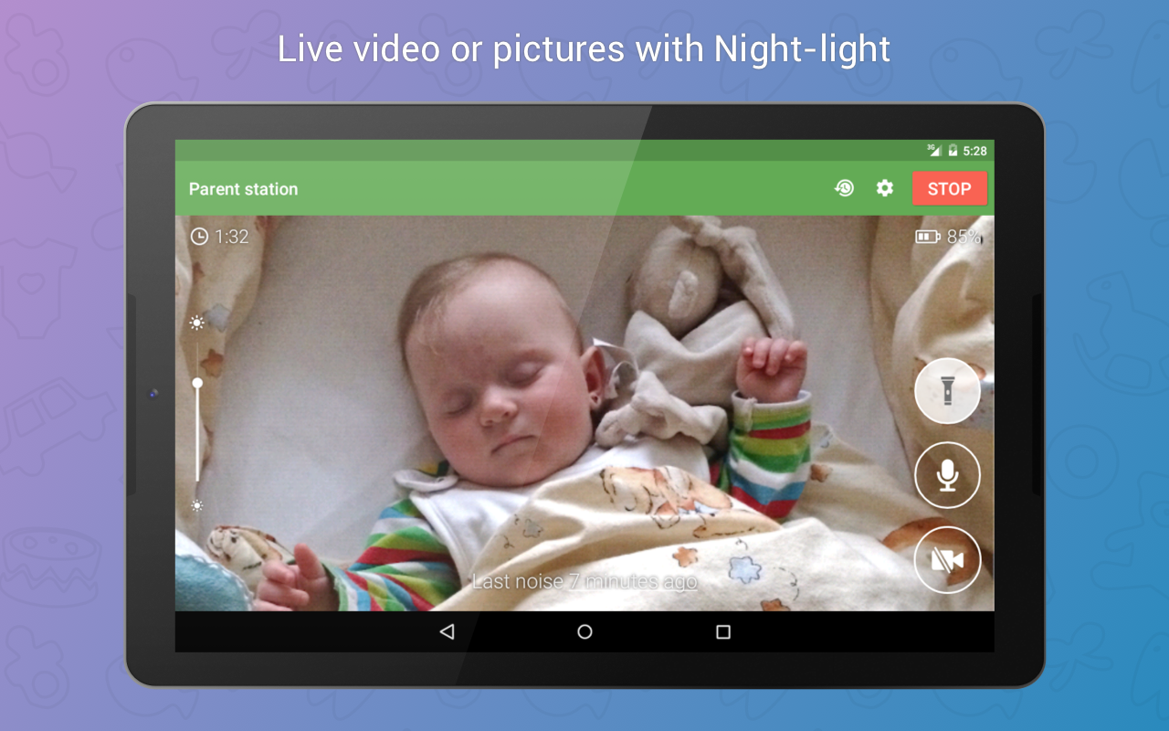 Baby Monitor 3G (Trial)- screenshot