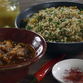 James Martin's Goat Tagine with Toasted Nut Couscous