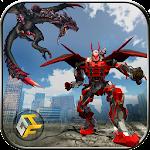 Super Dragon Warrior Robot Transform Battle Icon