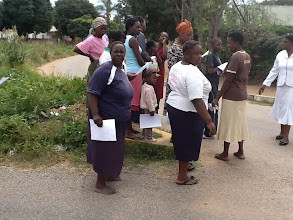 Photo: 4.12.13 Zimbabwe Parents of Handicapped Children Association pass out fliers in Zimbabwe