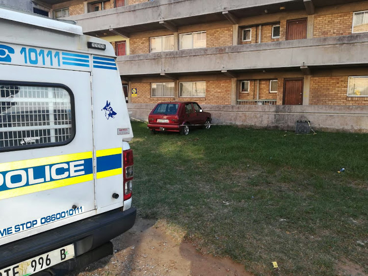 One of the hijacked vehicles was recovered by the PE K9 unit outside a block of flats in New Brighton