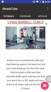 ShredzTube : Gym Exercises & Workout Programs - náhled