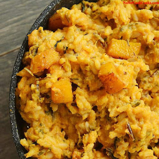 Roasted Garlic Pumpkin Rice