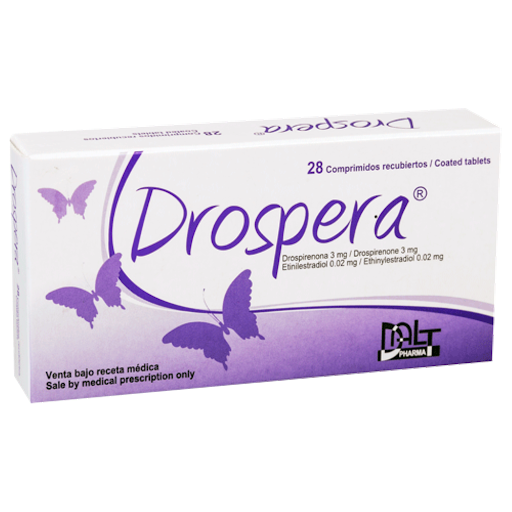 drospirenona + etinilestradiol drospera 3mg/0,02mg