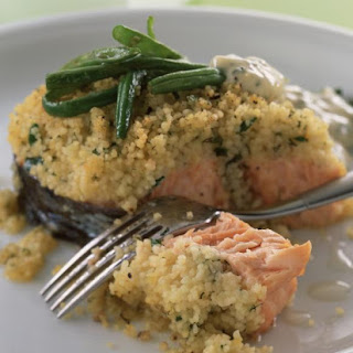 Roasted Salmon with Couscous Crust