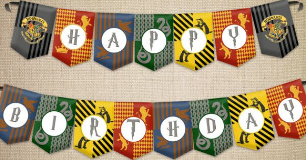 Happy Birthday Banner in HP style