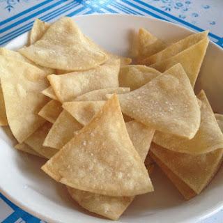 Crispy Homemade Tortilla Chips.