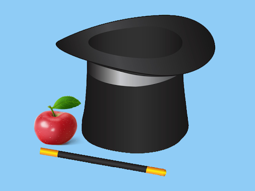 Hat and apple