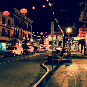 Chinatown by Shaun Groenesteyn - Novices Only Street & Candid ( market, night scene, allyway, street, chinatown, empty, road, abandoned, city, sidewalk )