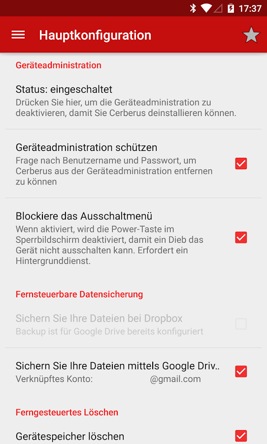 Cerberus Anti-Diebstahl - screenshot