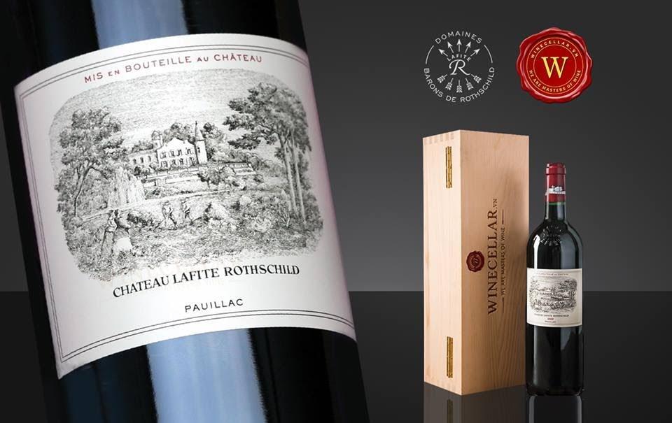 Rượu vang Chateau Lafite Rothschild. Ảnh: GooglePhoto