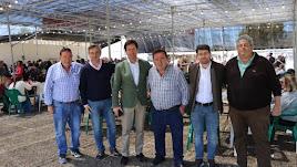 Francisco Góngora, junto a los ediles Ángel Escobar y Alberto González, y Salvador Aguilera.