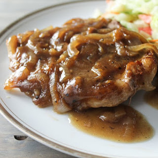 Smothered Onion Pork Chops.