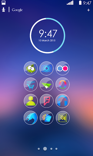 Blue Glass Icon Pack
