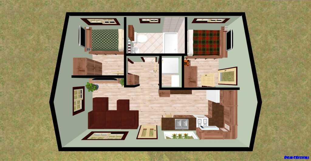 3d Home Plan Model Design Screenshot
