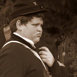Young Civil War Soldier by Larry Bidwell - Babies & Children Children Candids (  )
