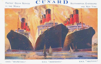 Photo: MAURETANIA - BERENGARIA - AQUITANIA (CUNARD WHITE STAR LINE)