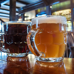 2 beer by Dmitriev Dmitry - Food & Drink Alcohol & Drinks ( beer, alcohol, glass, light, drinks )