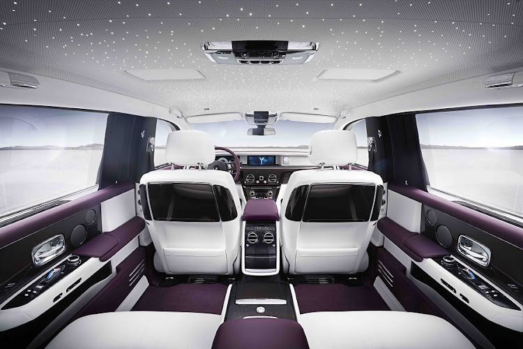 We are not sure about the purple and white, but the level of luxury and craftsmanship is incredible. Picture: ROLLS-ROYCE MOTOR CARS LTD
